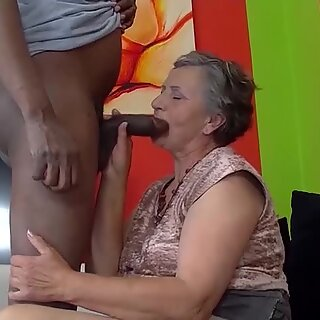 80 years old granny first time interracial fucked