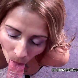 Latina mummy Sandie Marquez is drinking a stiff penis