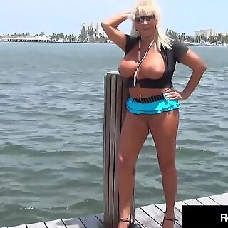 Hard Swinging Cock Rome Major Pounds Sweet Granny Mandie McGraw Outside!