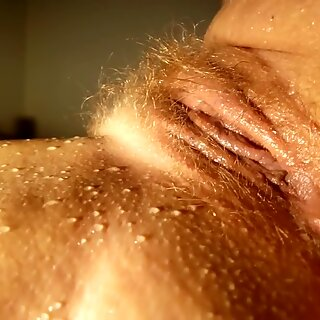 Champagne Blonde Hairy Mature Mom Pussy