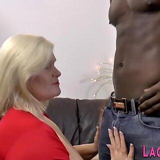 Granny gets butt fucked