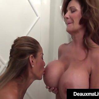Texas Cougar Deauxma Pussy Grinds Busty Asian Minka !