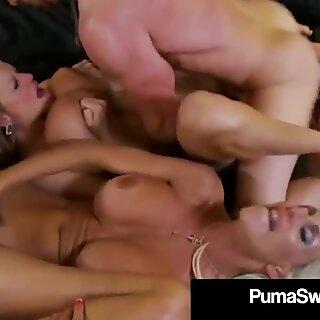 Hot Busty Blonde Puma Swede & Kelly Madison Suck Husband Off