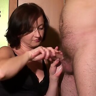 two cum shots on my melons face and jeans