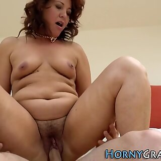 Slutty grandmother fucks