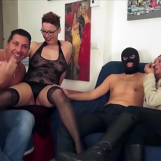 LETSDOEIT - Italian Amateurs Swap Wives in Hot Foursome Sex