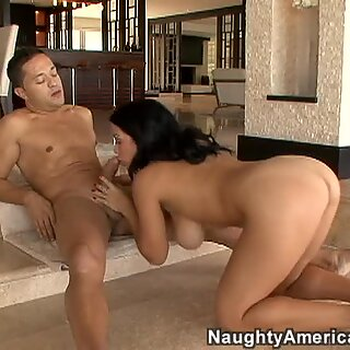 Busty brunette milf Sienna West loves cocks of young guys