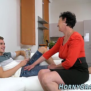Finger fucked old lady