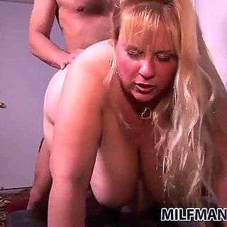 Fat nasty whore Cassie Bianca fucks doggy style