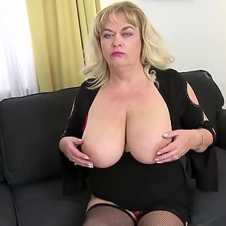Busty natural mother fucked by young not her son