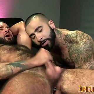 Hairy ripped hung bears
