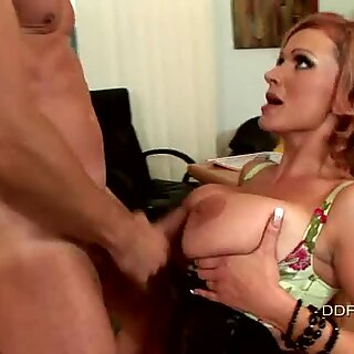 Busty whore haron Pink getting fucked harder she cant wait to get cummed