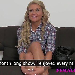 FemaleAgent HD Reality TV babe tries porn