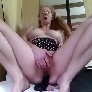 Hairy MILF a B Dildo POV - more videos on HOTVDOCAMS.com