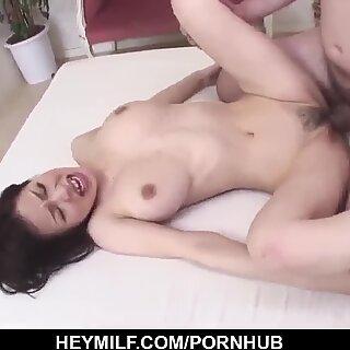 Hard sex in the shower for busty wife, Miina Ka
