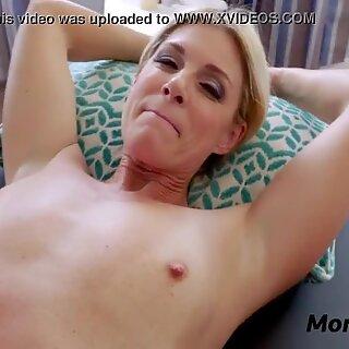 Son massages mom &amp_ she massages his balls