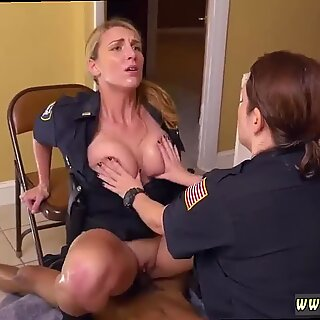 Black Male squatting in home gets our milf officers squatting