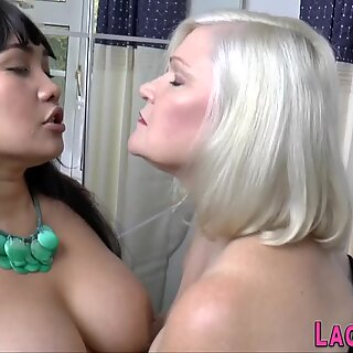 Granny lesbian eaten out and feet worshipped
