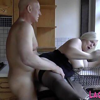 Granny sucks hard dick