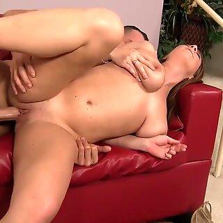WANKZ- Hot Brunette Cougar Diving On Dick