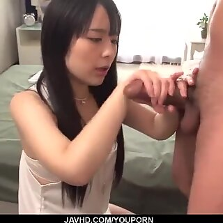 Young Ruka Kanae gets her hands on a big dick - More at javhd.net