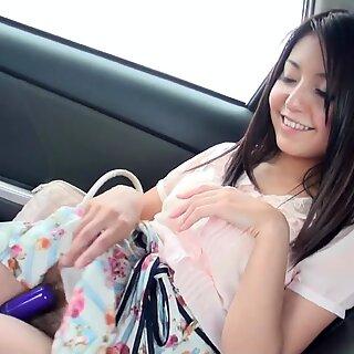 Japanese Mami Sugiyama using a sex toy uncensored