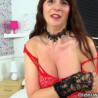 Mature milf Eva Jayne gets naughty in her PVC outfit