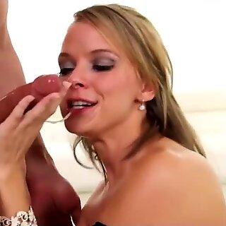 Deepthroating MILF gagging on cock