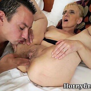 Ass toyed n fucked granny