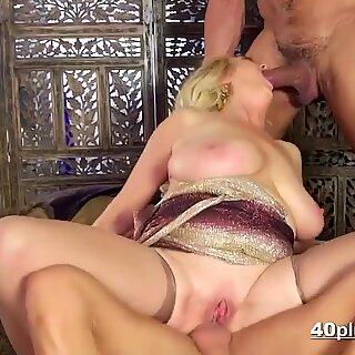 Busty milf double-fucked