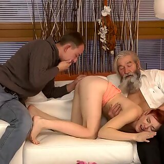 Russian old man young girl and milf teacher chubby first time Unexpected practice with an